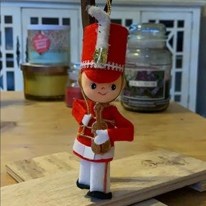 "🎻 5"" soldier marching band Christmas ornament"